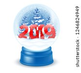christmas and new year magic... | Shutterstock .eps vector #1246824949