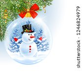 christmas and new year are...   Shutterstock .eps vector #1246824979