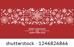 merry christmas and happy new... | Shutterstock .eps vector #1246826866