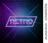 futuristic background 80s style.... | Shutterstock .eps vector #1246830256