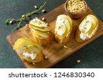antipasti snacks for wine.... | Shutterstock . vector #1246830340
