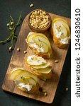 antipasti snacks for wine.... | Shutterstock . vector #1246830610