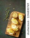 antipasti snacks for wine.... | Shutterstock . vector #1246830769