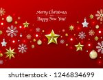 christmas background with... | Shutterstock .eps vector #1246834699