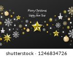 christmas background with... | Shutterstock .eps vector #1246834726