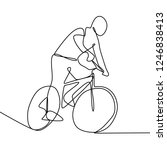 a person riding a bike. male... | Shutterstock .eps vector #1246838413
