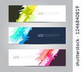 vector abstract design banner... | Shutterstock .eps vector #1246840819
