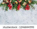 christmas and new year... | Shutterstock . vector #1246844590