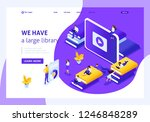 website template landing page... | Shutterstock .eps vector #1246848289
