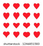valentine card love hearts... | Shutterstock .eps vector #1246851583
