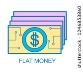 flat money icon with flat... | Shutterstock .eps vector #1246853860