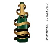 champagne bottle covered by... | Shutterstock .eps vector #1246856410
