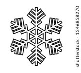 snowflake line icon. beautiful... | Shutterstock .eps vector #1246858270