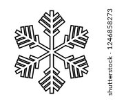 snowflake line icon. beautiful... | Shutterstock .eps vector #1246858273