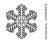 snowflake line icon. beautiful... | Shutterstock .eps vector #1246858276
