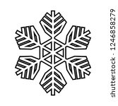 snowflake line icon. beautiful... | Shutterstock .eps vector #1246858279