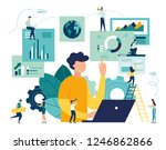 vector illustration of business ... | Shutterstock .eps vector #1246862866