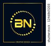 initial letter bn logo template ... | Shutterstock .eps vector #1246865203