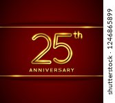 25   twenty five years... | Shutterstock .eps vector #1246865899