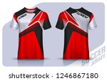 t shirt sport design template ... | Shutterstock .eps vector #1246867180