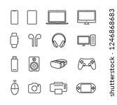 vector illustration set device... | Shutterstock .eps vector #1246868683