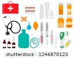 illustration icon on theme big... | Shutterstock .eps vector #1246870123