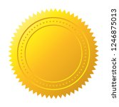 gold seal. gold medal vector | Shutterstock .eps vector #1246875013