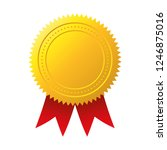 gold seal. gold medal vector | Shutterstock .eps vector #1246875016