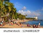 honolulu  hi  usa july 31  2014 ... | Shutterstock . vector #1246881829