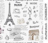 Paris. Vintage Seamless Pattern ...