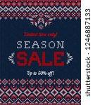 ugly sweater christmas season... | Shutterstock . vector #1246887133
