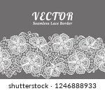 white seamless lace border with ... | Shutterstock .eps vector #1246888933