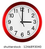wall clock isolated on white... | Shutterstock . vector #1246893040