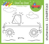 dot to dot drawing worksheets.... | Shutterstock .eps vector #1246893163
