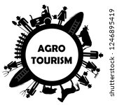 agro tourism icon with farm...   Shutterstock . vector #1246895419