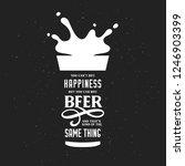 beer related typography quote.... | Shutterstock .eps vector #1246903399