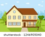 town house cottage  flat... | Shutterstock .eps vector #1246905040