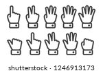 finger counting thin line icon... | Shutterstock .eps vector #1246913173