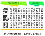 vector icons pack of 120 filled ... | Shutterstock .eps vector #1246917886