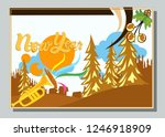 happy new year greeting card... | Shutterstock .eps vector #1246918909