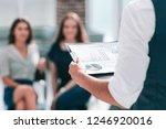 businessman with a financial... | Shutterstock . vector #1246920016