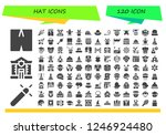 vector icons pack of 120 filled ... | Shutterstock .eps vector #1246924480