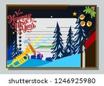 happy new year greeting card... | Shutterstock .eps vector #1246925980