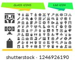 vector icons pack of 120 filled ... | Shutterstock .eps vector #1246926190