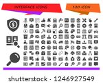 vector icons pack of 120 filled ... | Shutterstock .eps vector #1246927549