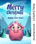 vector illustration pig... | Shutterstock .eps vector #1246927846