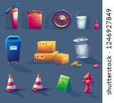 vector illustration item set.... | Shutterstock .eps vector #1246927849