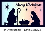 birth of christ. baby jesus in... | Shutterstock .eps vector #1246928326