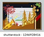 happy new year greeting card... | Shutterstock .eps vector #1246928416