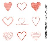 set of valentine's day  heart... | Shutterstock . vector #124693309